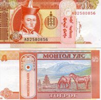 Mongolie (2008)  - 5   Tugrik   P 61 B  UNC - Mongolia