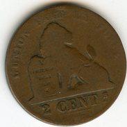 Belgique Belgium 2 Centimes 1865 Français KM 4.2 - 1831-1865: Léopold I