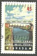 Sc. # 1725 Canals, St. Peters, Nova Scotia Single Used 1998 K096