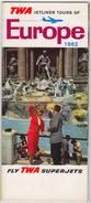 TWA  AIRLINES GUIDE 1962  23 PAGES - Publicités
