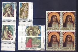 Fresques GIOTTO S.Marino 893/97,ITALIA 957 X 4