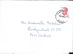 _6ik-841:brief Met :N°2203 : AARTRIJKE /B  29.03.88-16  8260 > 8400  Oostende - 1981-1990 Velghe