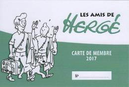 Les Amis De Hergé ADH Carte De Membre 2017 Tintin Kuifje - Hergé