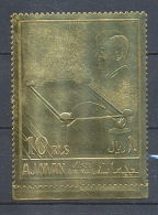 099 /Ajman N°208 OR Gold Stamps Kennedy Flamme Eternelle (ewige Flamme) Lollini