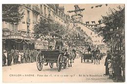 Chalon Sur Saone - Fetes 1913 - Boulevard - Chalon Sur Saone