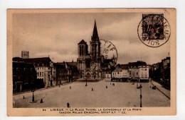 CPA-POP540-LISIEUX PLACE THIERS CATHEDRALE POSTE - Lisieux