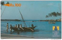 Sri Lanka, 2SRLB, Rs100, Fishing Boat, 2 Scans. - Sri Lanka (Ceylon)