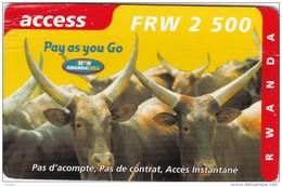 Rwanda, Pay As You Go - Cattle, 2 Scans.  Expiry : 03.2004     Please Read. - Rwanda