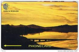 Falkland Islands,  FLK339A, £10, Sunset Port Stanley, 339CFKA .