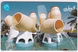 Qatar, QTR-50, Water Fountain, 2 Scans. - Qatar