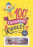 Veritable Carte Maximum Cholet 2017 Carnaval Lisa 1er Jour - Cartoline Maximum