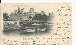 Paris  Hotel De Ville En 1898 - Frankreich