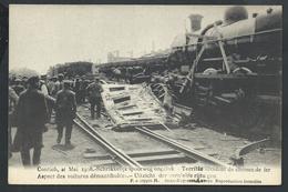 +++ CPA - KONTICH - CONTICH - Accident Chemin De Fer - Voitures Démantibulées - Schrikkelijk ... - Train Trein   // - Kontich