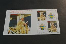 E1921- Cinderella -Giovanni Paolo II - IV Viaggio Di S.S. Giovanni Paolo II In Spain,Rep. Dominicana And Porto Rico - Vignettes De Fantaisie