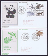 Denmark; 1975; Endangered Species And Animal Protection; WWF.  Panda FDC With Panda Postmark - FDC
