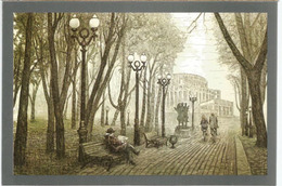 Square Near The Theatre Of The Bolshoï Opera And Ballet In Minsk. Postcard Written In Russian At The Back - Belarus