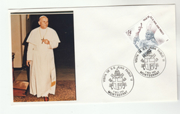1982 SPAIN MONTSERRAT Special POPE  EVENT COVER - JOHN PAUL II VISIT,   Religion Christianity Stamps Heraldic - Popes