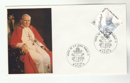 1982 SPAIN MADRID Special POPE  EVENT COVER - JOHN PAUL II VISIT,   Religion Christianity Stamps Heraldic - Popes