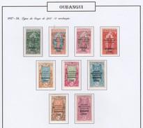 Oubangui N° 75 à 83 * - Ubangui (1915-1936)