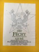 4019 - Féchy Azuré 1987  Suisse Semper Paratus Flughafen Bataillon 43 Bataillon D'aéroport - Militaire
