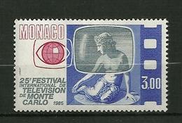 "MONACO 1984  N°1447   "" Festival De T V ( La Nymphe D'Or Grand Prix Du Festival ""     NEUF - Unused Stamps"