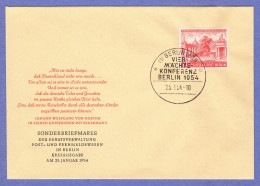 BER SC #9N103 1954 Four Power Conference FDC 01-25-1954 - [5] Berlin