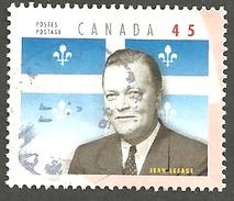 Sc. # 1709b Provincial Premier, Jean Lesage, Quebec Single Used 1998 K087