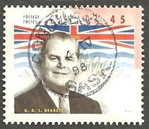 Sc. # 1709g Provincial Premier, W.A.C. Bennet, British Columbia, SON Cds Single Used 1998 K088