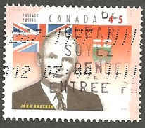 Sc. # 1709i Provincial Premier, John Bracken, Manitoba Single Used 1998 K090