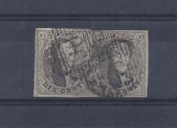 N°10 IN PAAR GESTEMPELD P90 Ostende COB € 25,00 + COBA € 6,00 SUPERBE - Postmark Collection
