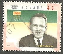 Sc. # 1709d Provincial Premier, Tommy Douglas, Saskatchewan Single Used 1998 K100