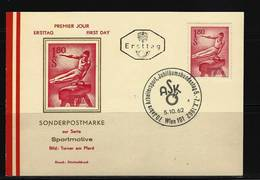 ÖSTERREICH - FDC Mi-Nr. 1121 Sport Stempel WIEN - Postkarte - FDC