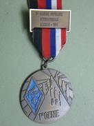 Médaille Marche Populaire Internationale ILLKIRCH 1er Génie GARIGLIANO RHONE RHIN - Sports