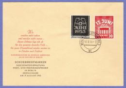 BER SC #9N99-100 1953 E. German Worker Strike FDC 08-17-1953 - [5] Berlin