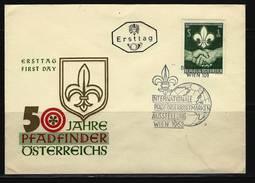 ÖSTERREICH - FDC Mi-Nr. 1122 - 50 Jahre Pfadfinderbewegung In Österreich Stempel WIEN (10) - FDC