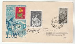 SPECIAL DOUBLE Event CHRISTMAS COVER CRISTKINDLE 64 / Spain FDC 1962 Cover Stamps AUSTRIA - Christmas