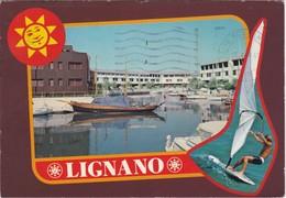 Cartolina - Postcard  - LIGNANO - LA DARSENA DI PUNTA FARO - Udine
