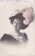 AK Dame Mit Federhut - Feldpost  - 1916 (28467) - Frauen