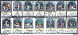 1975 NICARAGUA  1009-17 + PA 841-45 ** Semaine Sainte, Chemin De Croix - Nicaragua