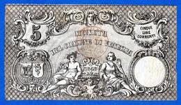 Italy Venezia 5 Lire Correnti 1848 Governo Provvisorio PS194 R3 BB~SPL / VF~XF - Andere
