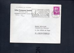 """Flamme  85 Fontenay Le Comte """"FONTENAY LE COMTE  Ancienne Capitale Du Bas-Poitou Sa Foire-Expo,musée,Bocage,Plaine """" - Postmark Collection (Covers)"""