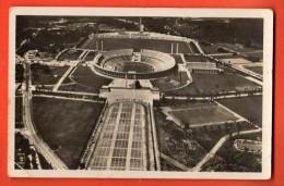 D1332 Berlin 1938 Olympia Sportfeld, Fussball, Calcio., See Also Backside Stamp. Pli Angle. Grand Format. Cachet 1938. - Soccer