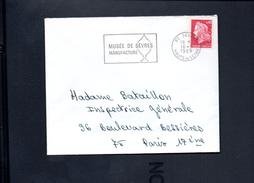 """Flamme  92 Sèvres   """" Musée De Sèvres, Manufacture  """" - Postmark Collection (Covers)"""