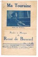 MA TOURAINE. RENE DE BUXEUIL ( AU PIANO ). D37 LA FAUVETTE 6, RUE DES HALLES . TOURS. - Scores & Partitions