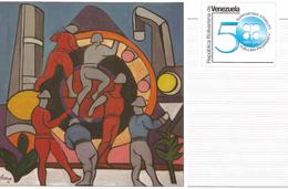 J) 2010 VENEZUELA, 50 YEARS SUPPORTING STABILITY FUELLING PROSPERTITY, OPEP, PETROLEUM, PDVSA,  ILUSTRATION, 200 YEARS B - Venezuela