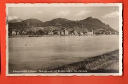 D1337  Königswinter Am Rhein. Rheinansicht Mit Drachenfels Und Drachenburg.  Gelaufen In 1923 Nach Schweiz - Koenigswinter