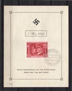 1942 DEN HAAG Deutsche Dienstpost Niederlande Grosdeutschland Und Die Niederlande Feiern Tag Der Arbeit (EHa) - Periode 1891-1948 (Wilhelmina)