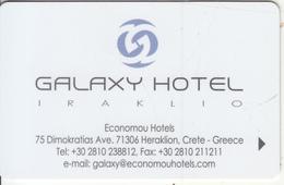 GREECE - Galaxy, Hotel Keycard, Used - Cartes D'hotel