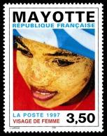 MAYOTTE 1997 - Yv. 47 **   Faciale= 0,53 EUR - Visage De Femme  ..Réf.AFA22553 - Mayotte (1892-2011)