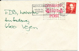 Denmark Cover With Stamp And Atm Frama Label 18-6-1992 - Dänemark